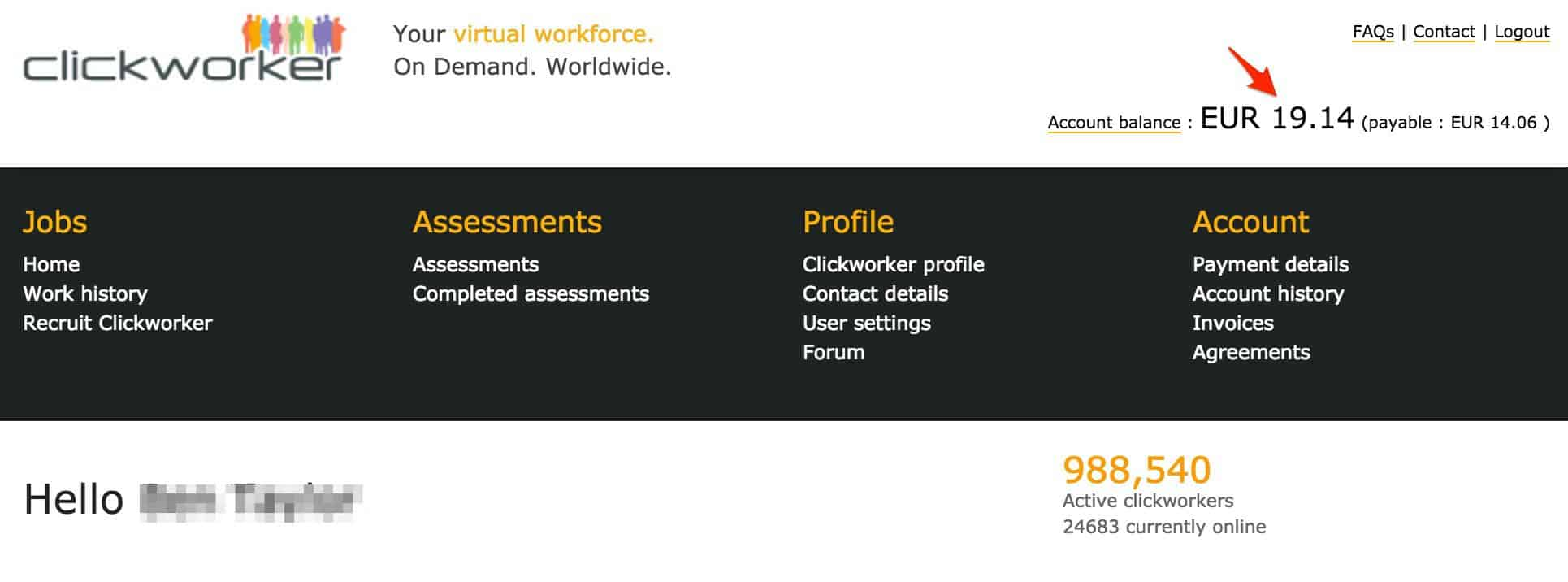 ClickWorker stats