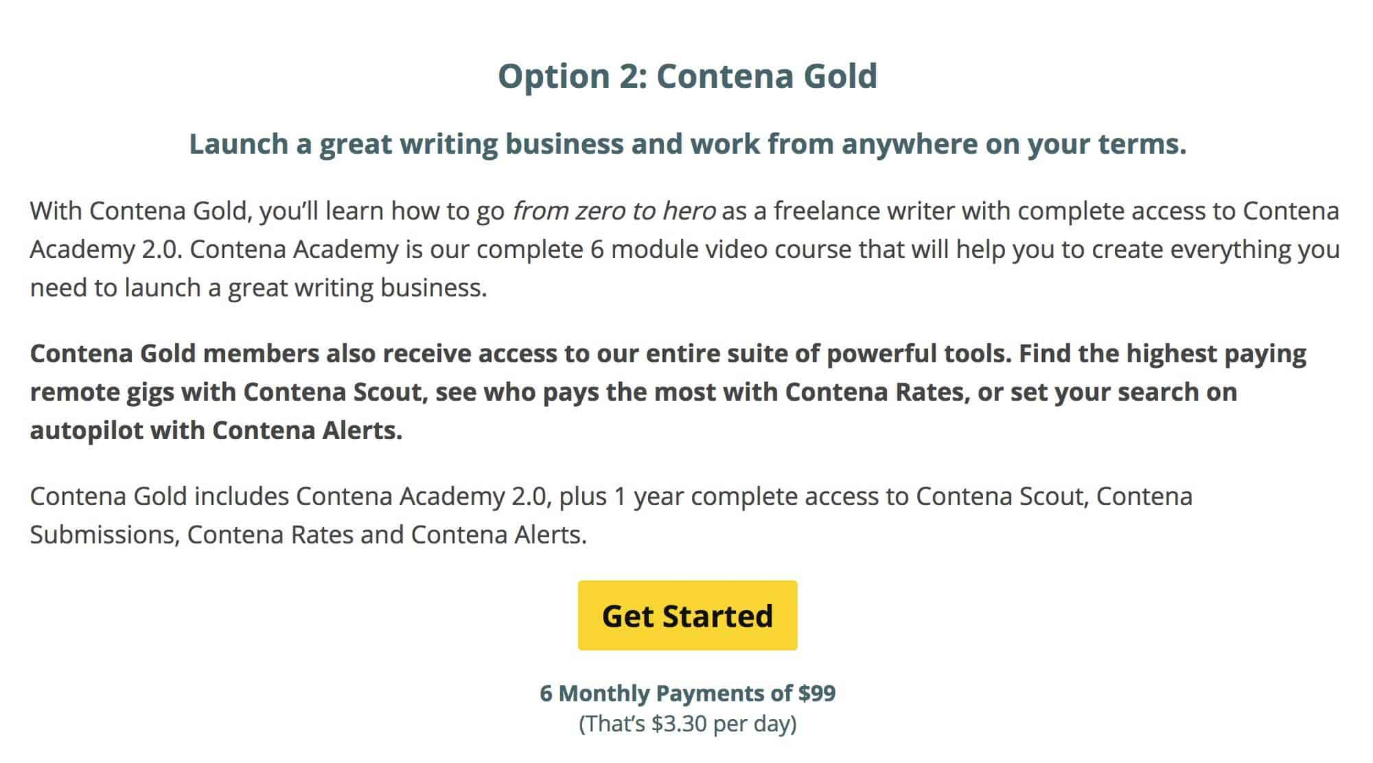 Contena Gold pricing
