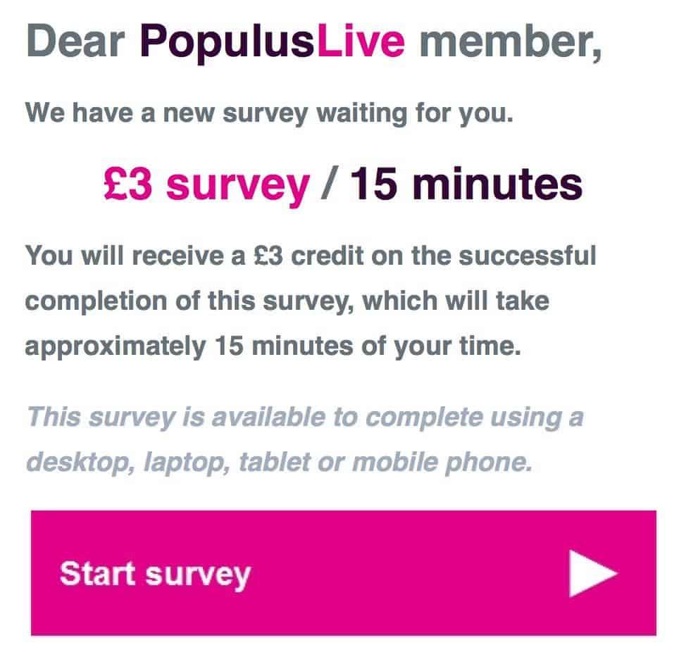 Populus Survey