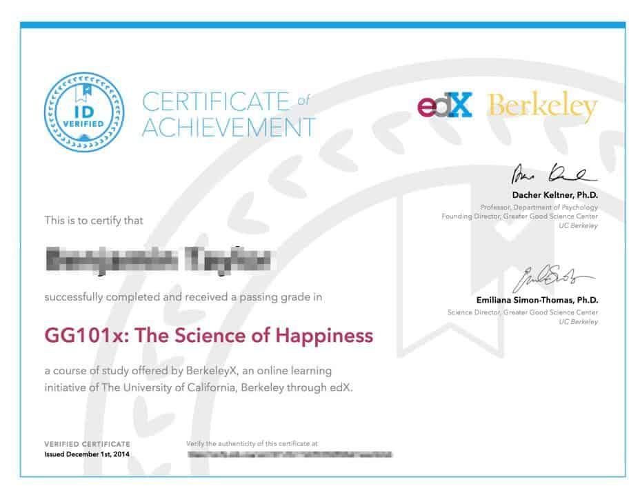 Example freelance training certificate