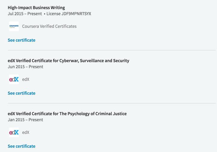 Training on LinkedIn