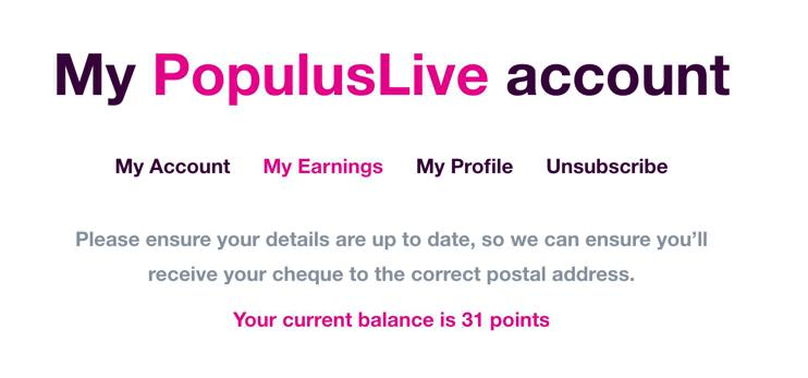 Populus Live Earnings