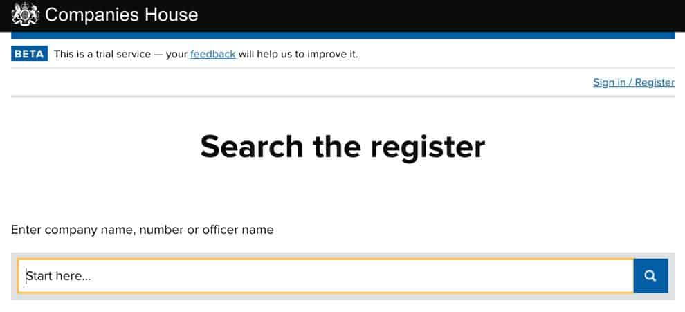 Companies House Search
