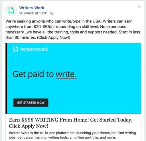 Writers Work Advertising
