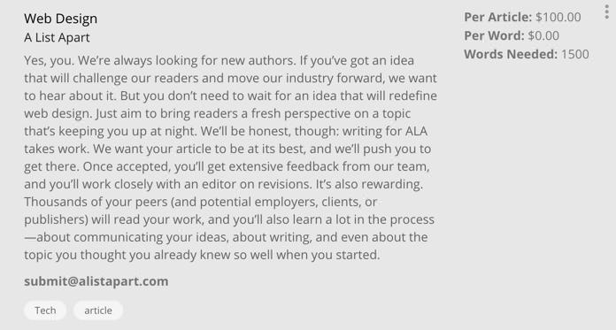 Writers Work job listings