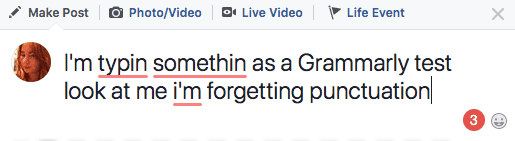 Grammarly in Facebook