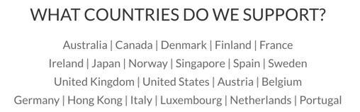 nDash countries