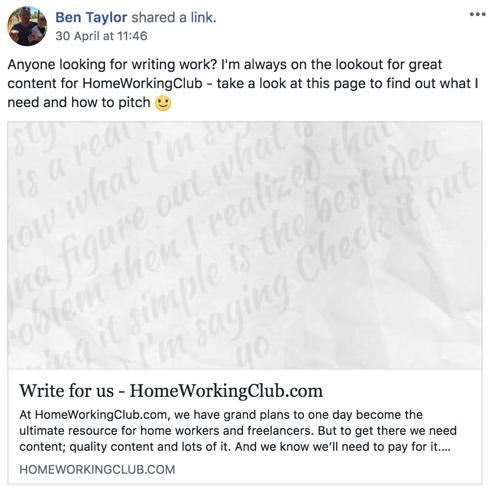 HWC Writing Ad