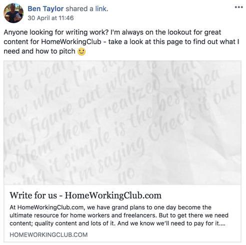 HWC Writing Ad