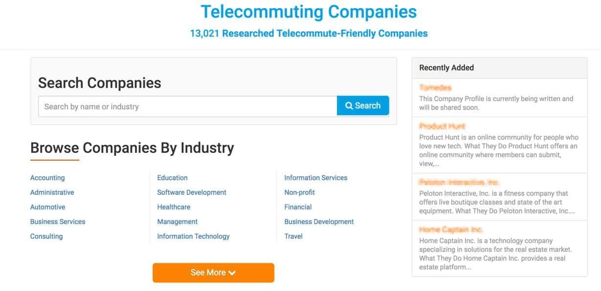 VV companies tab