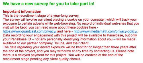 Panelbase survey - privacy concern