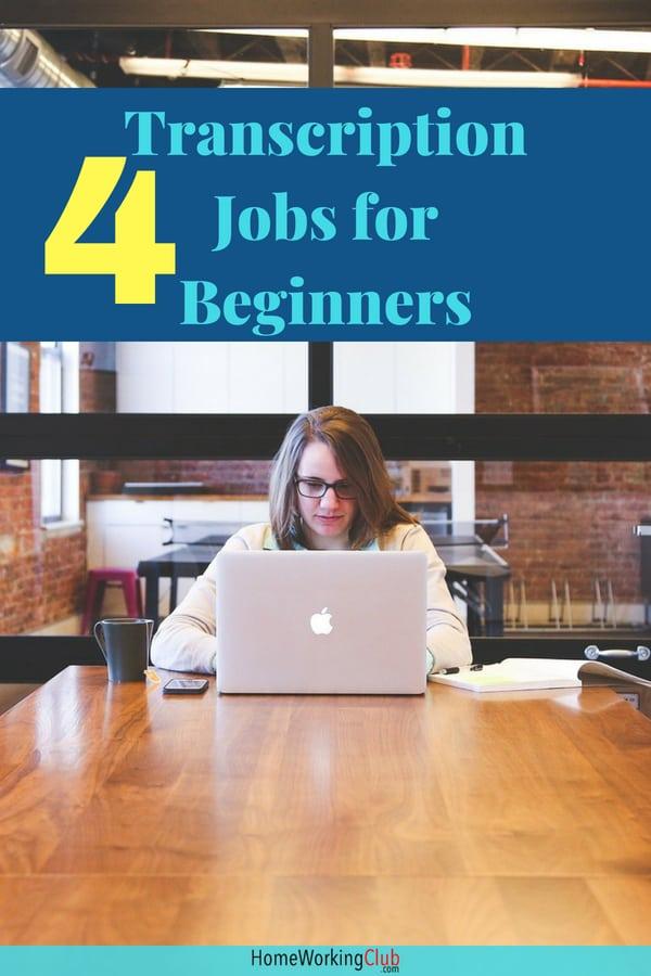 4 Major Transcription Job Companies for Beginners #makemoneyonline #transcrption #transcribing #homeworking #workathomejobs #makingmoneyonlinetips #transcriptionsjobs #transcribingforbeginners