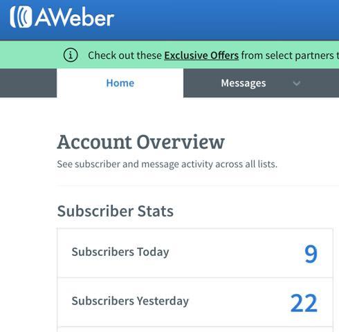 Aweber subscribers