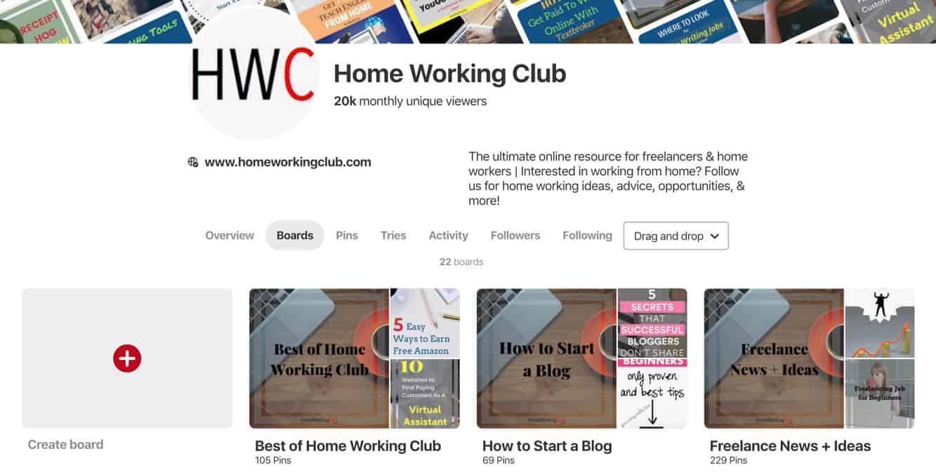 Pinterest HomeWorkingClub
