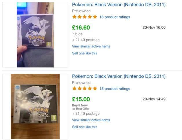 Pokemon on eBay