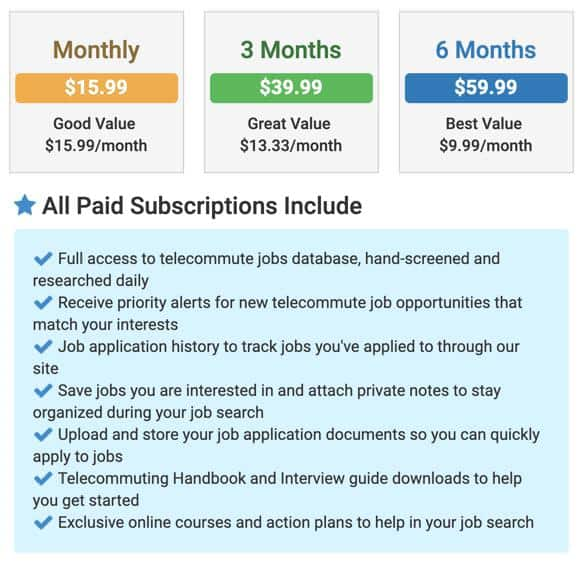 VirtualVocations Subscriptions