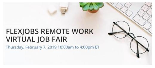 FlexJobs remote job fair