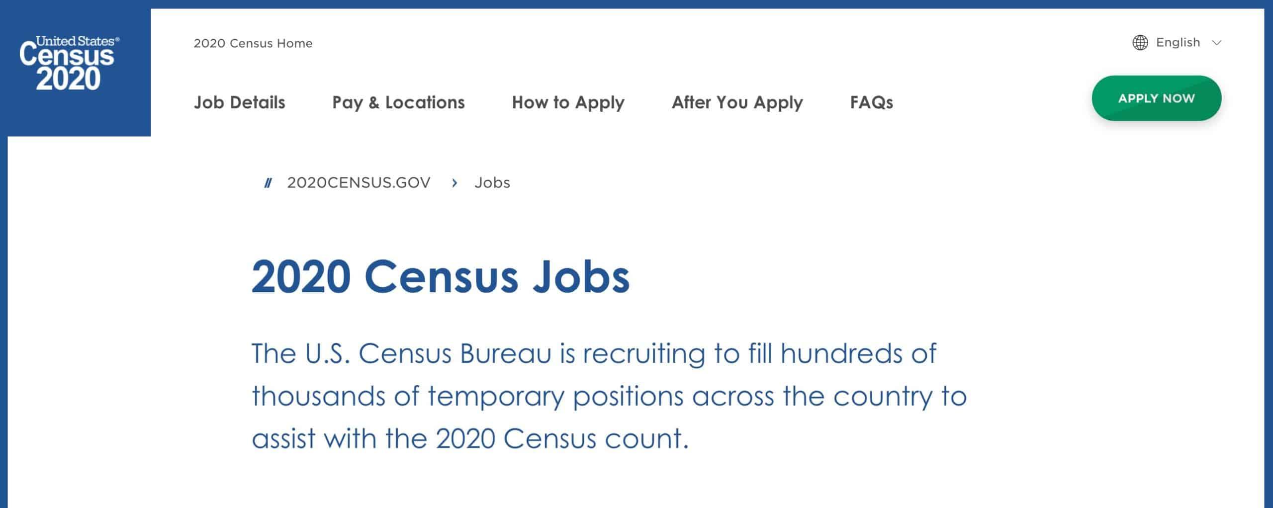 Census Jobs 2020
