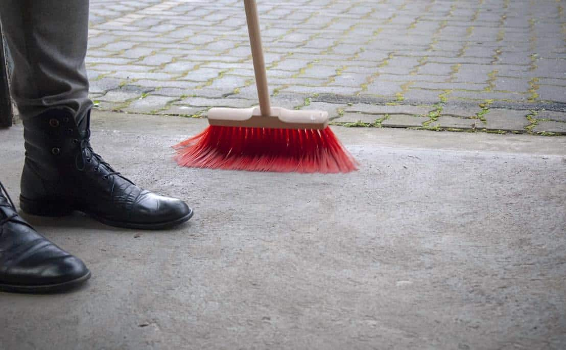 Sweeping away the rubbish