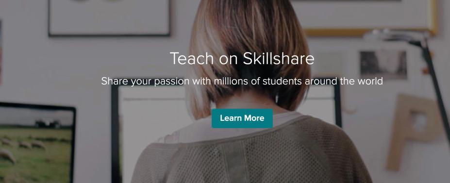 Skillshare teacher