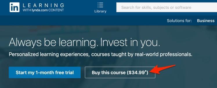 LinkedIn Learning A La Carte