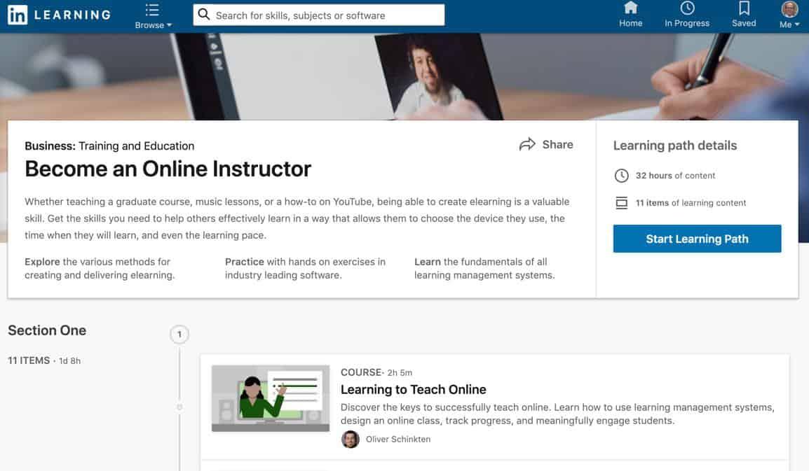 LinkedIn Learning Path