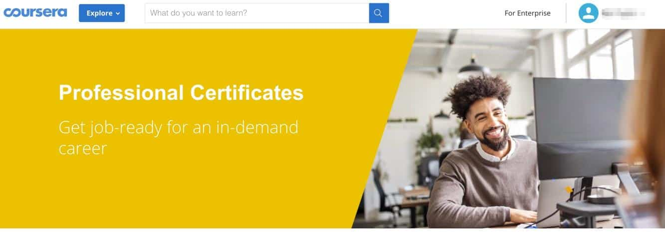 Coursera Professional Certificates