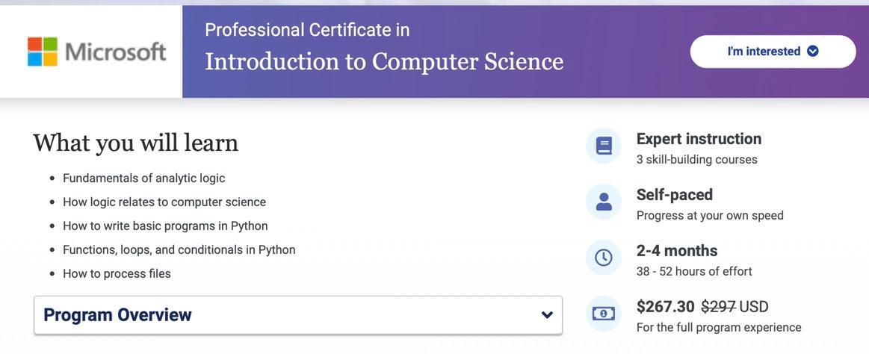 Microsoft computer science