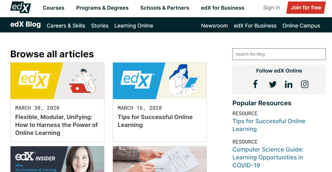 edX blog