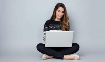 Doing tasks on a laptop