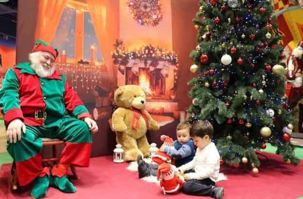 Santa in shop