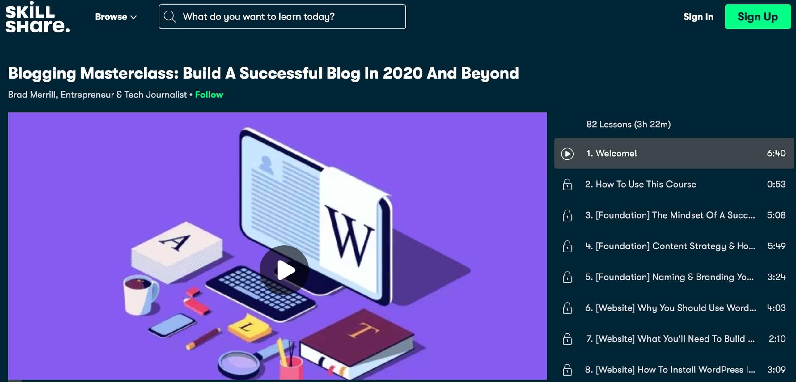 Blogging Masterclass