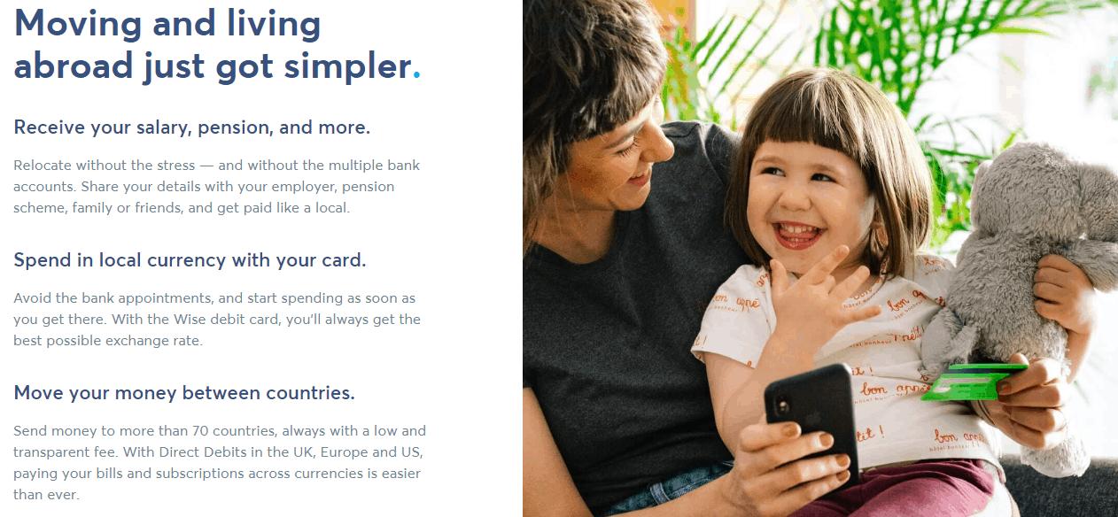 Wise debit card