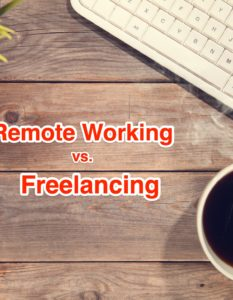 Remote Working vs Freelancing