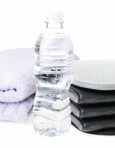 Fitness - towels and bottle