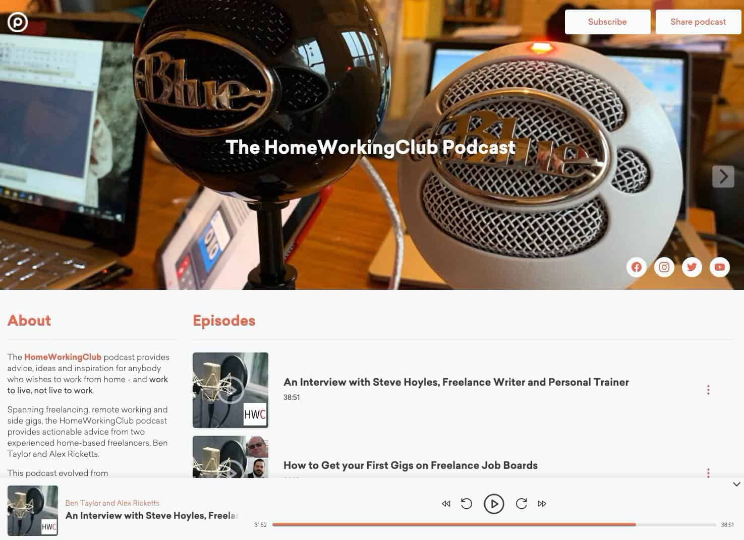 Podcast page example