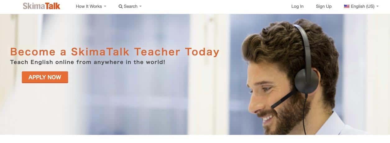 SkimaTalk hiring online English teachers
