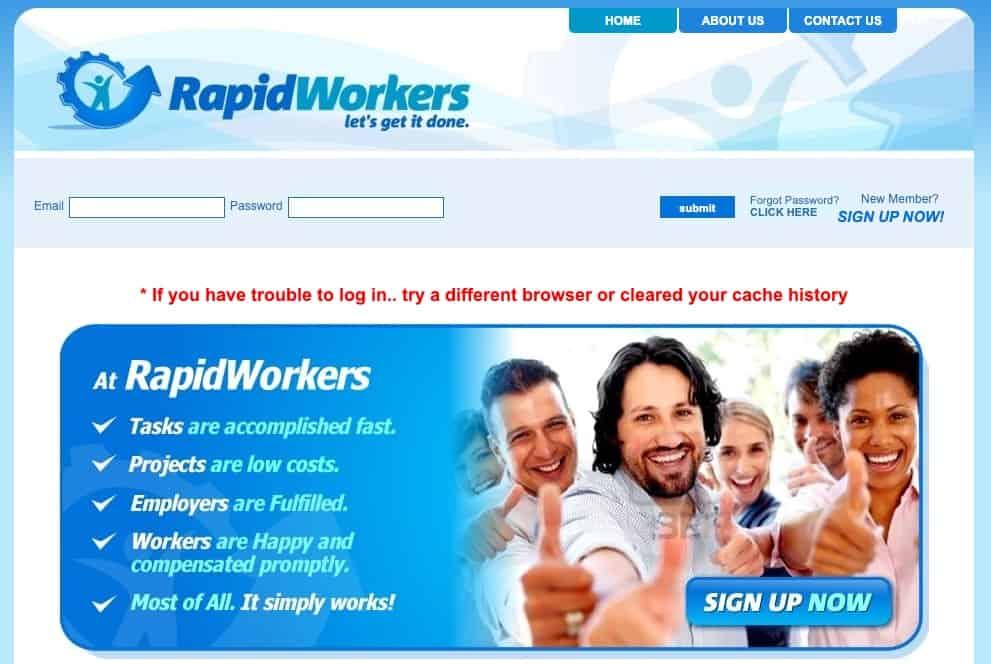 RapidWorkers Website