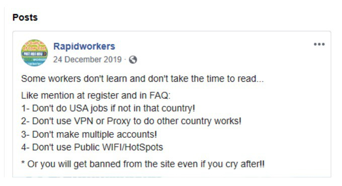 RapidWorkers on Facebook