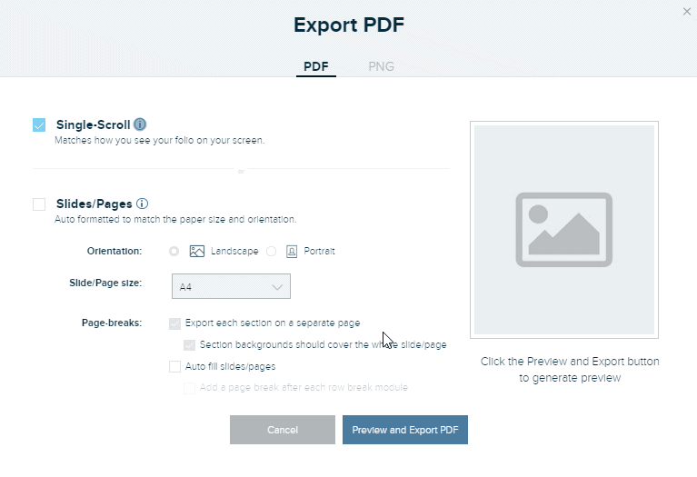 Screenshot to show PDF download feature