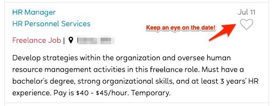 FlexJobs Job Listing Example