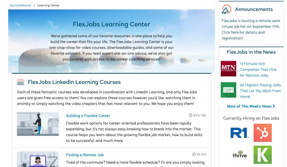 FlexJobs Learning Centre