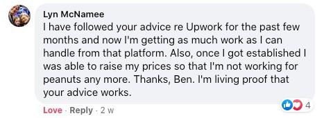 Upwork Testimonial