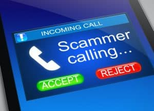 Scammer calling