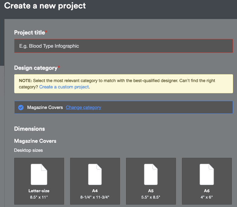 Create a project on Penji