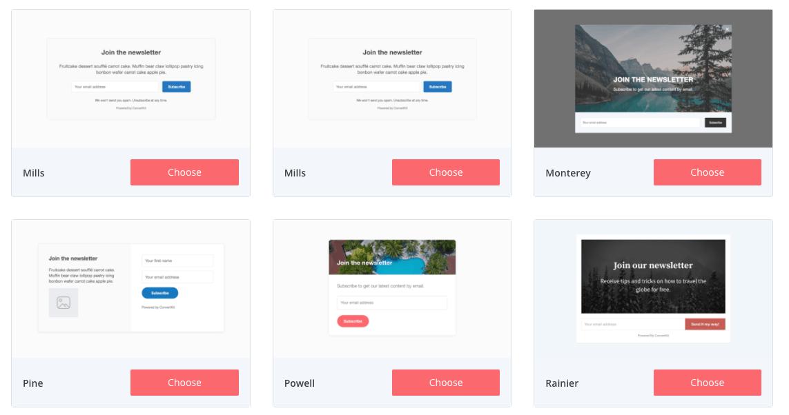 ConvertKit Form Designs