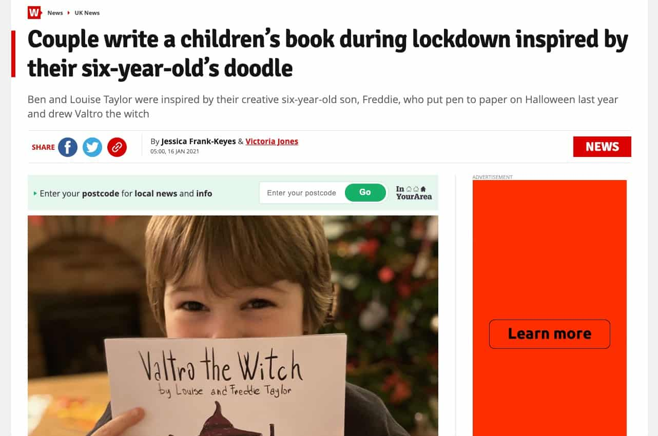 Press coverage from a guide to how to self publish a childrens book