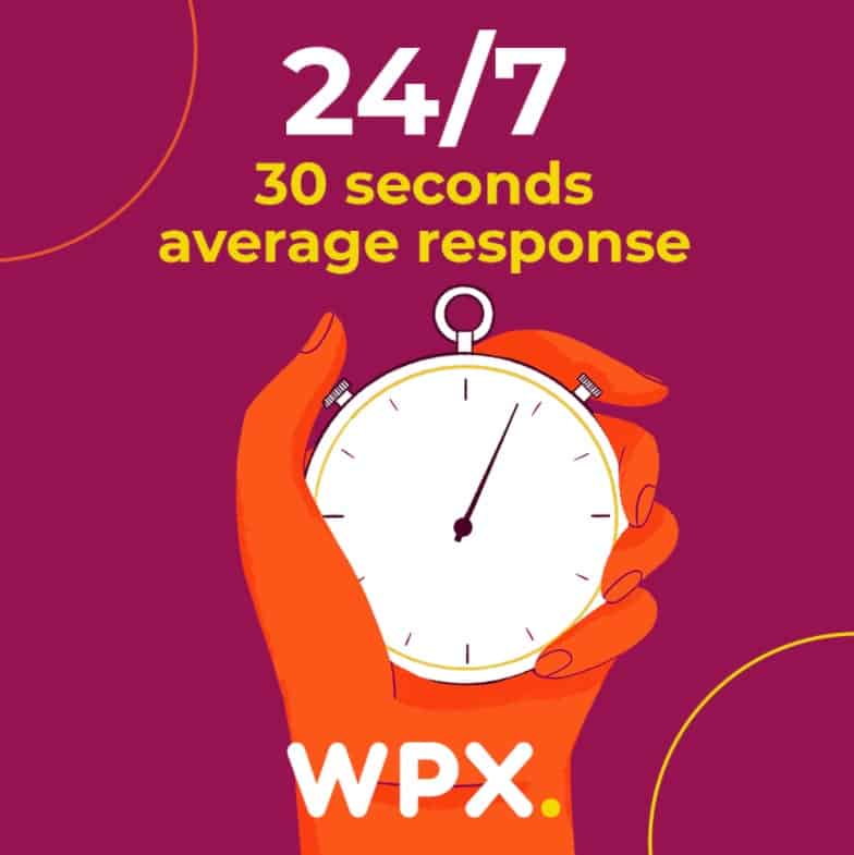 WPX Hosting Support Response Time