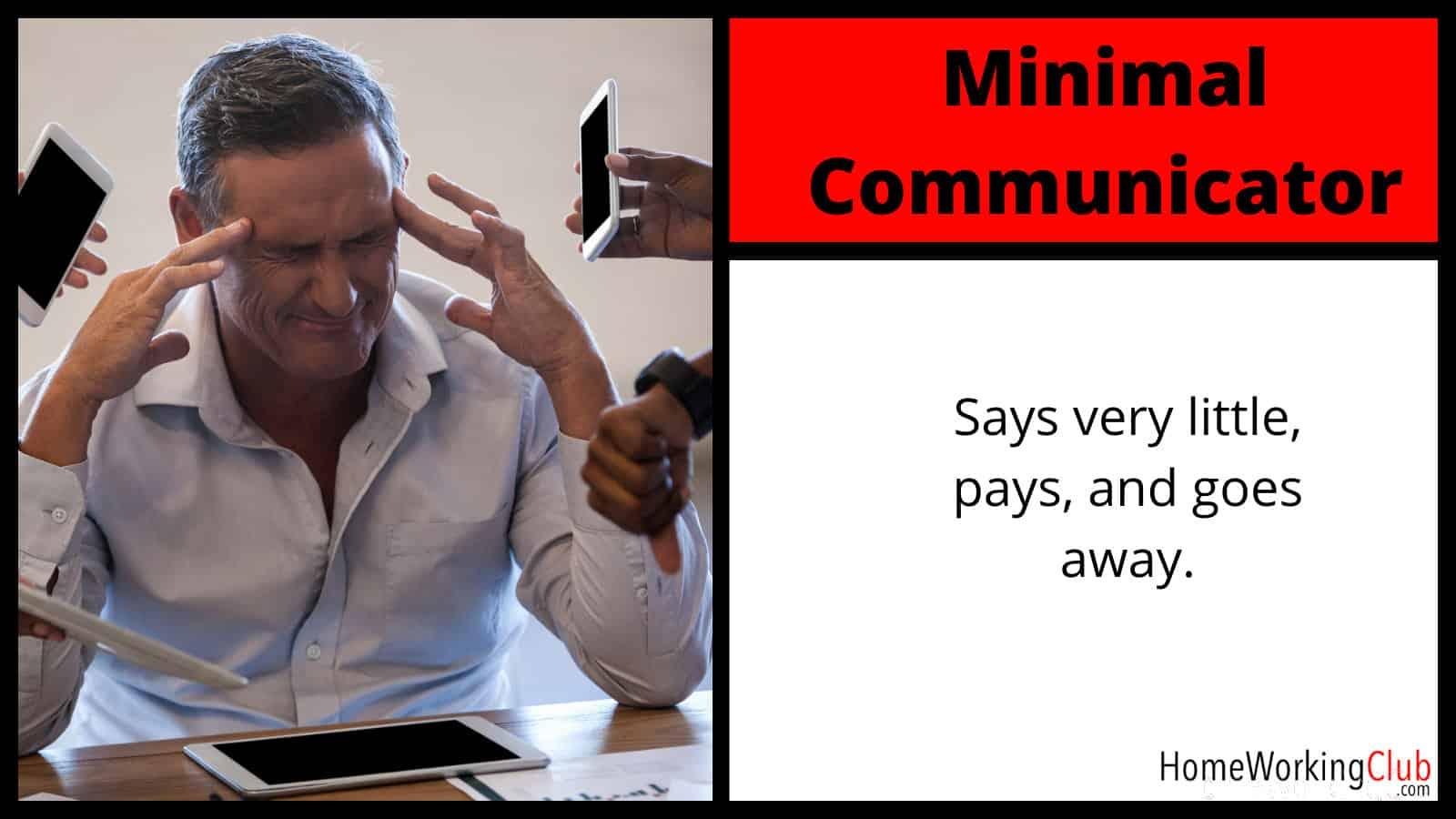 Client Type: Minimal Communicator