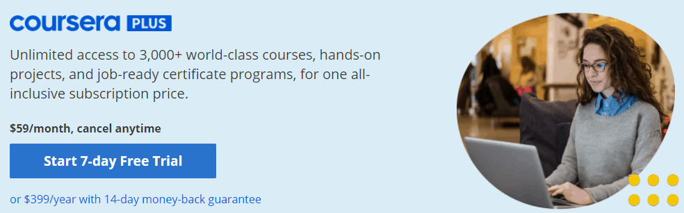 Coursera Plus subscription pricing